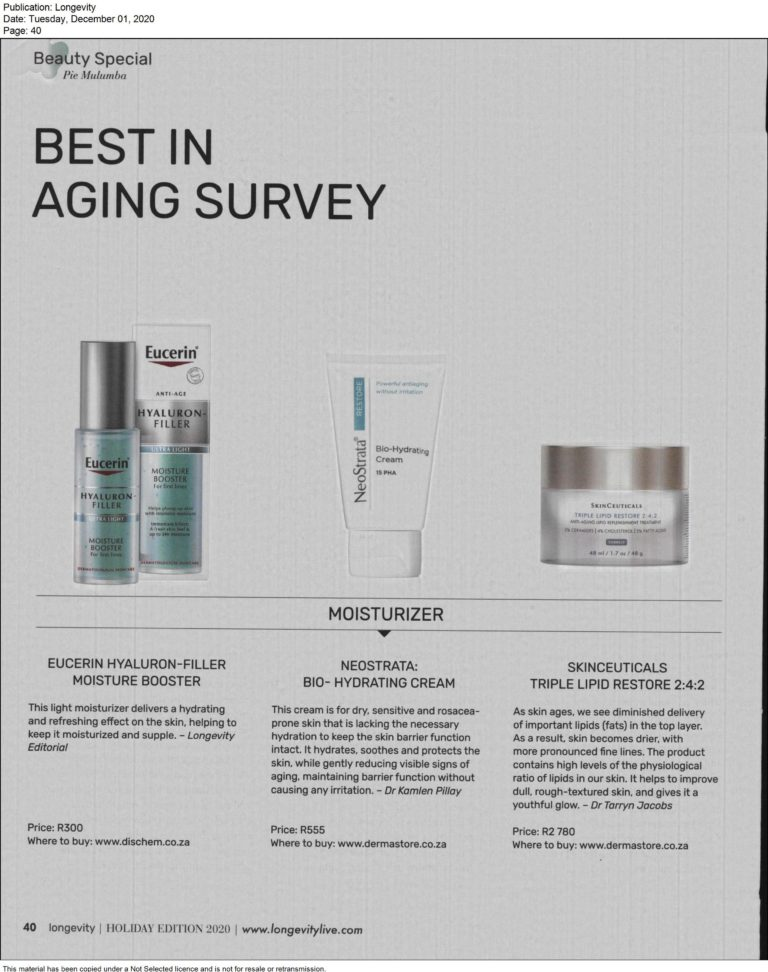Read more about the article Longevity – Beauty Specials